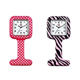 Product review of Avaner Bundle of 2 Silicon Nurses Lapel Pin-on Brooch Analog Quartz Fob Watch Fashion Nurse Clip-on Fob Jelly Hanging Pocket Watch