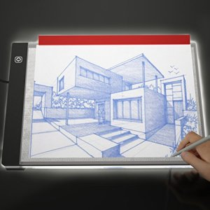 Picture/Perfect Best Light Box for Tracing – Ultra Thin Portable LED Light Pad with Advanced Filter to Prevent Eye Fatigue, Plus Tracing Paper and Clamp, A4 9×13 Inch Table with Hi-Mid-Low Brightness