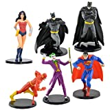 "NEW Hot SELLER DC Comics Superman Wonder Woman Flash Batman Superman Figurine Cake Topper ~ 4 Figures 2.75"""