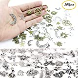 omlopp Approx 180 Pieces Mixed Charms Pendants DIY for Jewelry Making and Crafting