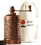 Bazaar Anatolia Turkish Handmade Grinder 3.0'', Spice Grinder, Salt Grinder, Pepper Mill (Antique Copper)