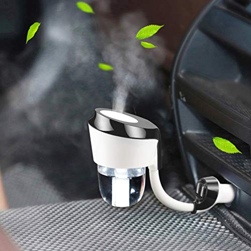Vyaime Car Diffuser Essential Oil Aromatherapy Diffusers with Dual USB Charger Adapter, Ultrasonic Humidifier Air Refresher Purifier for Vehicle Automobile(Black)