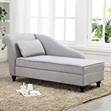 Product review for Tongli Chaise Lounge Storage Sofa Chair Couch for Bedroom or Living Room(Gray)