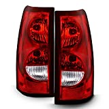 ACANII - For 2003-2006 Chevy Silverado 1500 2500 3500 [OE Factory Style] Tail Lights Brake Lamps Driver & Passenger Side