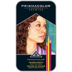 Prismacolor Premier Colored Pencils, Soft Core, 36 Pack with Pencil Sharpener and Blender Pencils