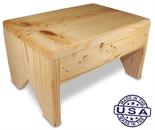Cutestepstools 8 Inch Solid Wood Step Stool