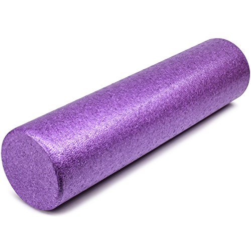Yes4All EPP Exercise Foam Roller – Extra Firm High Density Foam Roller – Best for Flexibility and Rehab Exercises (24 inch, Purple)