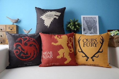 Game of Thrones Vintage Cushion Cover 4 pieces/lot