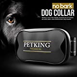 PETKING - Effective Anti Bark Dog Collar   Safe & Hummane No Barking Control Device to Stop Small Medium & Large Breeds   No Shock Spray or Aids   Best 2018 Anti-Barking Sound and Vibration Technology