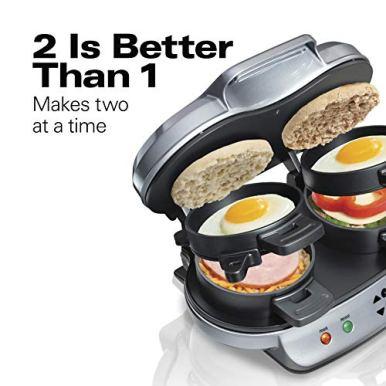 Hamilton-Beach-Dual-Breakfast-Sandwich-Maker-with-Timer-Silver-25490A