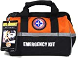 Be Smart Get Prepared Emergency Roadside Kit for All Vehicles. Heavy Duty Nylon Carry Bag. (52 Pieces)