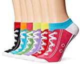 K. Bell Women's 6 Pack Novelty No Show Low Cut Socks, Sneakers (Assorted), Shoe Size: 4-10