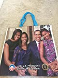 Obama '4 Sided' Full color Glossy Shopping Bag Michelle Obama Barack Sasha and Malia Obama
