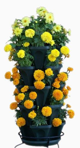 5-Tier-Stackable-Strawberry-Herb-Flower-Vegetable-Planter-Vertical-Gardening-Indoor-Outdoor-Stacking-Garden-Pots