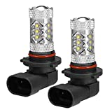 LED Headlight Bulbs 80W Super White Headlight Bulbs Lamps For Can-Am ATV Commander 2011-2014 Maverick 2014 Outlander 2012-2014 Renegade 2007-2014 Spyder 2008-2014 Replaces# 415129249 (2Pcs)