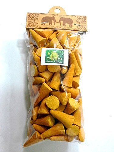 Thai Incense Cones 100 Coins Ylang Ylang Fragrances Relax Aroma Twin Elephant Brand High Quality.