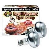 Zoo Med Repti Basking Spot Bulb, 100 watt, E27 threaded base, set of 2 bulbs