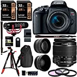 Canon EOS Rebel T7i 18-55mm Video Creator Kit.43x HD Wide Angle Lens, 2.2X HD Telephoto Lens, Sandisk 32GB X 2, Filter Kit, Camera Backpack and Premium Accessory Bundle