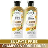 Herbal Essences Sulfate Free Shampoo and Conditioner Kit, BioRenew Honey & Vitamin B, Safe for Color Treated Hair 13.5 & 12.2 fl oz, Kit