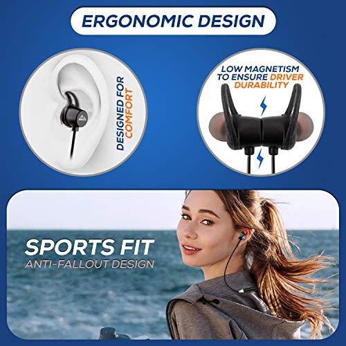 51qSP1uIcML WeCool N1 Bluetooth Headphones with Dynamic Drivers for Immersive Music Expertise, IPX5 Sweatproof, 12 Hours Playtime, Versatile Neckband Earphones (Black)