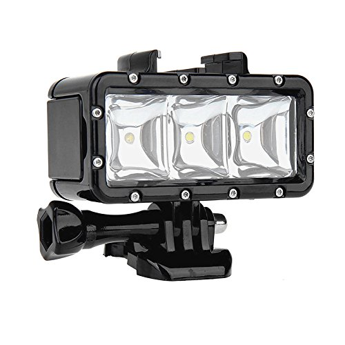 SHOOT Waterproof Diving Light High Power Dimmable LED Light Underwater Light for Gopro Hero 5/5S/4/4S/3+/3/2/SJCAM SJ4000/SJ5000/Xiaomi Yi with 1200mAh Built-in Rechargeable Battery Charging