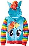 FREEZE Little Girls' My Little Pony Rainbow Dash Hoodie, Blue/Multi, 5/6