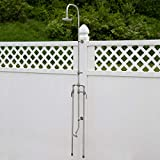 Signature Hardware 258592 Deluxe Outdoor Shower Mixer Shower Head with Foot Shower