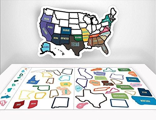 RV State Sticker Travel Map - 11\