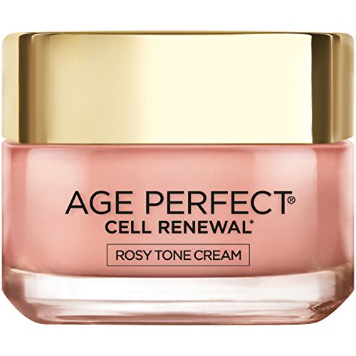 Face Moisturizer by L'Oreal Paris, Age Perfect Cell Renewal Rosy Tone Face Moisturizer with LHA and Imperial Peony for Visibly Younger Looking Skin, Anti-Aging Day Cream for Face, Non-greasy, 1.7 oz.