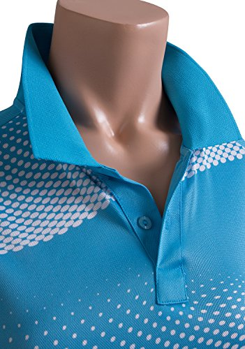 CLOVERY Women's Active Wear POLO Shirt Short Sleeve Dot Pattern 17 Fashion Online Shop gifts for her gifts for him womens full figure