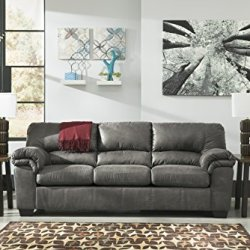 Signature Design by Ashley – Bladen Contemporary Plush Upholstered Sofa, Slate Gray