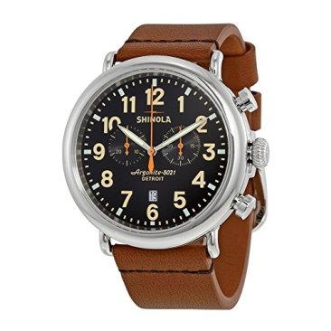 Shinola Detroit Men's The Runwell Chrono 47mm - 10000044 Black/Tan Watch