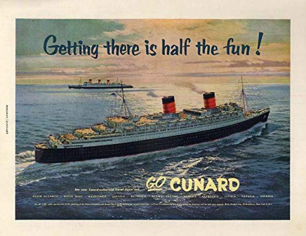 Image result for cunard queen elizabeth 1955