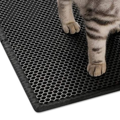 Bull-o-Cat-Litter-Mat-Litter-Trapper-Size-24-X-15-Honeycomb-Double-Layer-Design-Waterproof-Urine-Proof-Material-2-Layer-Sifting-Easy-Clean-Scatter-Control