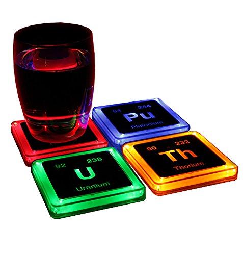 Radioactive Elements Glowing Coaster Set Epic Loot Drop