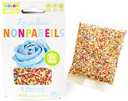 ColorKitchen Nonpareil Sprinkles from Nature, 2 oz, Plant-Based Ingredients, Naturally Sourced