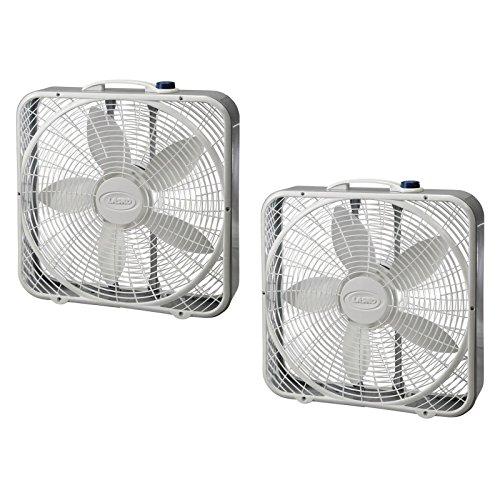 Lasko 3733 Box Fan, 3-Speed, 20-Inch, White
