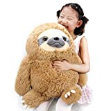 Winsterch Fluffy Sloth Stuffed Animal Toy Gift for Kids Large Plush Sloth Bear Baby Doll Birthday Gifts ,19.7 inches