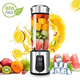 Personal Smoothie Blender,DOUHE Cordless Portable Blender Rechargeable USB Juicer Mixer Mini Blender Small Blender -Shakes,Smoothies,Baby Food - Outdoor Travel Home Office,High Borosilicate Glass,BPA Free,15oz