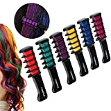 Hair Chalk Comb 6pcs Shimmer Temporary Hair Color Cream, Birthday Gifts for Girls
