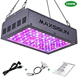 MAXSISUN 1000W LED Grow Light, Full Spectrum LED Grow Lights for Indoor Plants Veg and Flowering, Hydroponic Growing System Plant Growing Lamps to Cover a 2.2x2.2ft Flower Area (100pcs 10W LEDs)