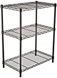 AmazonBasics 3-Shelf Shelving Unit - Black