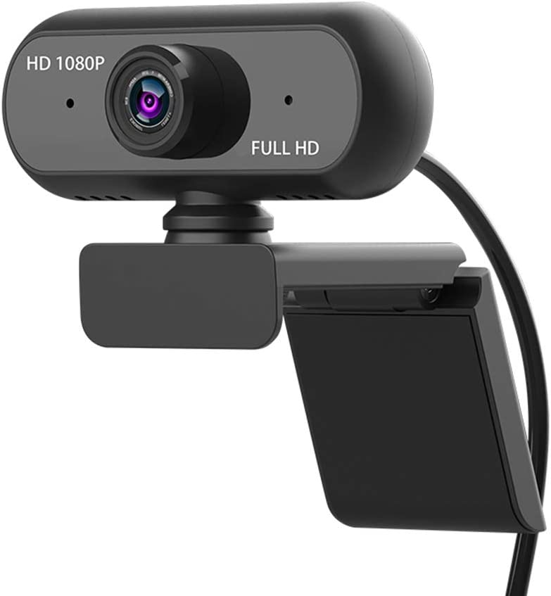 Honelife Full HD 1080P Wide Angle USB Webcam USB2.0 Drive-Free with Mic Web Cam Laptop Online Teching Conference Live Streaming Video Calling Web Cameras Anti Peeping Webcame