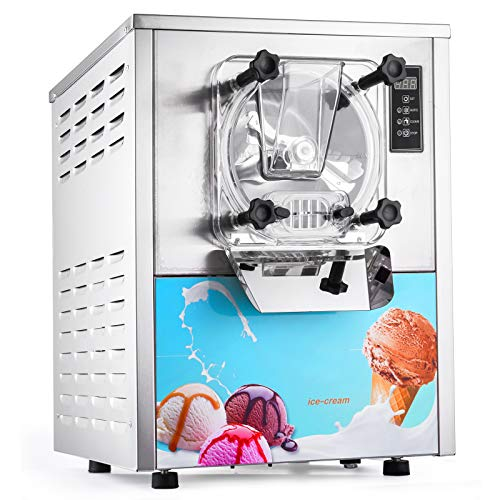 Happybuy 1400W Commercial Hard Ice Cream Machine 20/5.3Gallon Per Hour Perfect for Restaurants Snack Bar Recreation Center Churches, 20L/H