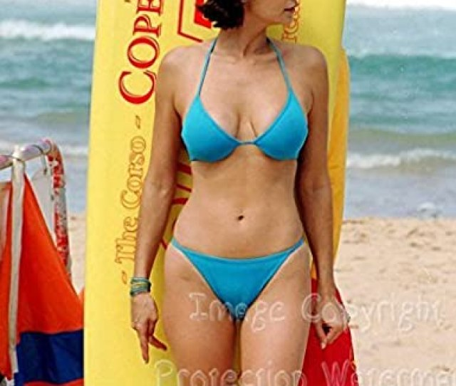 Catherine Bell Beach Bikini Camel Toe Candid Pose 8x10 Photo At Amazons Entertainment Collectibles Store
