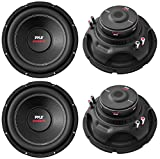 4) NEW Pyle PLPW15D 15' 8000W Car Subwoofers Audio Power Subs Woofers DVC 4 Ohm