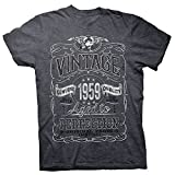 60th Birthday Gift Shirt - Vintage Aged to Perfection 1959 - Dk. Heather-002-2X