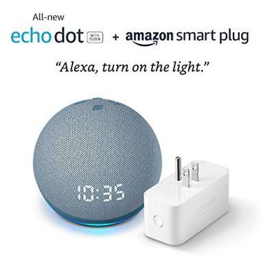 All-new-Echo-Dot-4th-Gen-with-clock-Amazon-Smart-Plug-Twilight-Blue