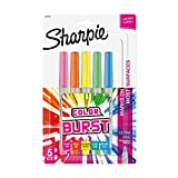 Sharpie Color Burst Permanent Markers, Ultra-Fine Point, Assorted, 5/Pack (1948353)