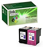 Limeink 2 Remanufactured Ink Cartridge Replacement 61XL High Yield for 1000 1010 1050 1055 1510 1512 2000 2050 2510 2512 2514 2540 2542 2543 2549 3000 3050 3050A 3054A 3051A Envy (1 Black, 1 Color)